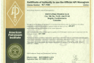 Certificate of authority to use the official API monogram API-5CT